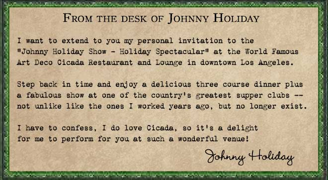 Memo from Johnny